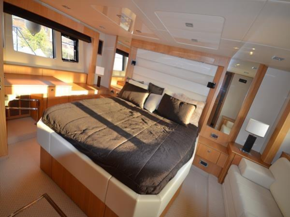 The interior of this Sunseeker Predator 64 is flooded with natural light