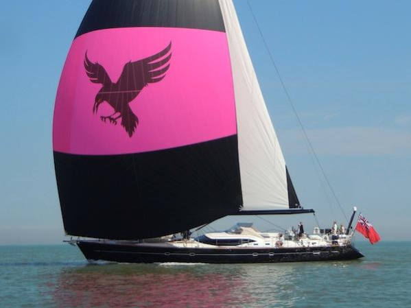 """The Oyster 82 """"RAVEN"""" is also on display at the 2015 Palma Superyacht Show"""