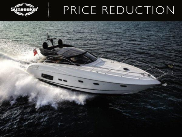 "Sunseeker Beaulieu have announced a reduction of the Sunseeker Predator 60 ""LADY ICE"", now asking €1,190,000 Tax paid"