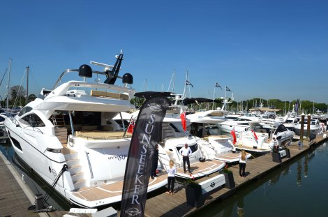 Sunseeker is look ahead to the British Motor Yacht Show in Swanwick, Southampton, from 14th to 17th May