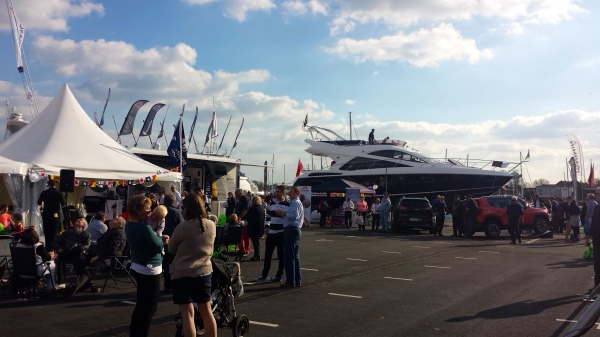 Sunseeker Southampton enjoyed glorious weather and crowds of visitors at the Premier Marinas Swanwick Easter Boat Show