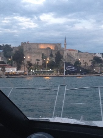 Under the watchful eye of Skipper Paul Beal, the Manhattan 65 arrives at C&N Marina in Cesme, Turkey