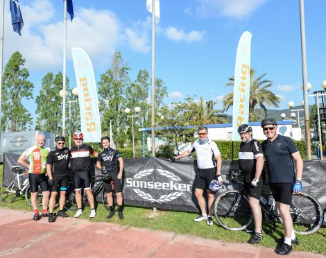 The Sunseeker Cycling Team on their training runs in France ahead of the COCC ride