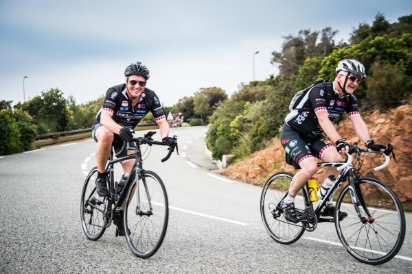 Sales Director Chris Head (L) pictured during the COCC ride