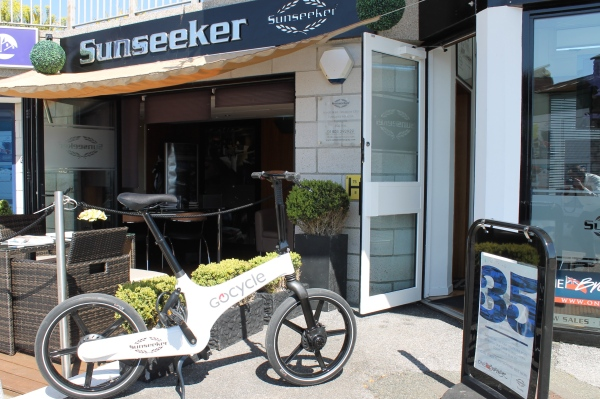 The Sunseeker Torquay team test out an alternative commute to work on the Gocycle