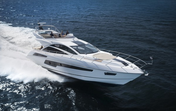 The Sunseeker 68 Sport Yacht will be on display at the Sunseeker Yacht Show, available for immediate delivery