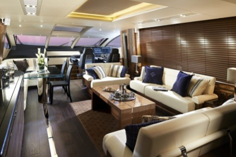 Main Saloon: Sunseeker 80 Sport Yacht