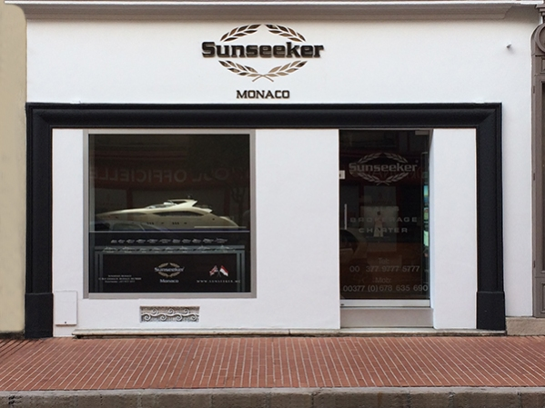 Sunseeker Monaco reveals its new frontage at the 11 rue Grimaldi premises