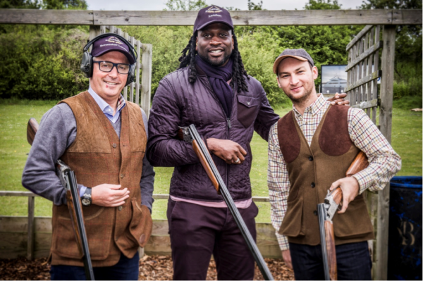 Guests at the PAH Breast Cancer Trials Shooting Day included former England Rugby star, Paul Sackey