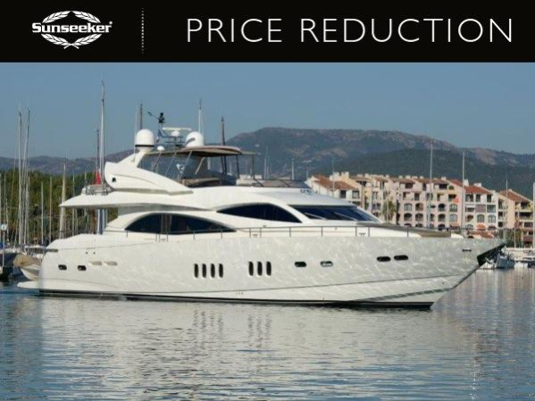 "Sunseeker London announce price reduction on 90 Yacht ""AZZURO DUE"""