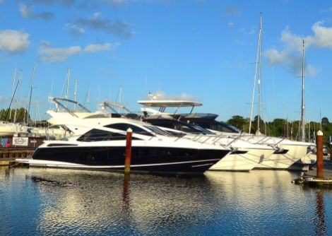 The Manhattan 55, Manhattan 65 and 75 Yacht have arrived in Swanwick in preparation for the British Motor Yacht Show