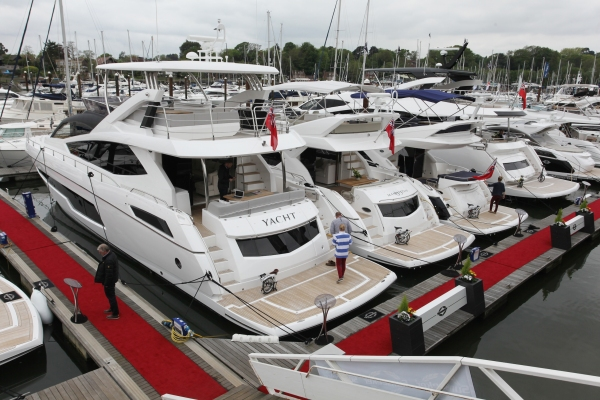 The Sunseeker display at the 2015 Argentex British Motor Yacht Show