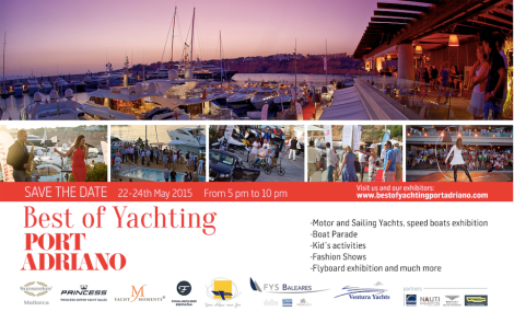 The Best of Yachting event will take place in Port Adriano form May 22nd-24th