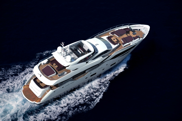 The new Sunseeker 116 Yacht has an astonishing sense of size and space to the interior for a yacht of its length