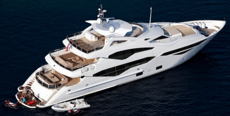131 Yacht - High View Stbd Side (Render)