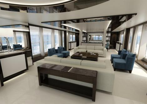 The 131 Yacht enables its owner to tailor every element of the interior design and layout, from the Saloon to the Staterooms