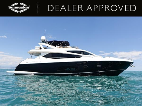 "Sunseeker London lists Dealer Approved Sunseeker Manhattan 73 ""ROAMING SPUR"""