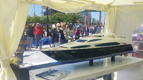 The Sunseeker 34 Metre Yacht model drew many visitors to the Sunseeker Cheshire display