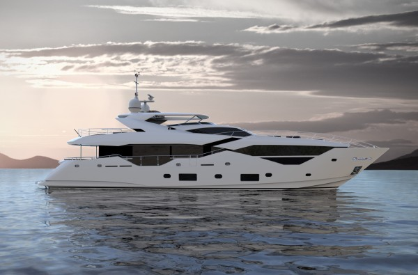 CGI images of the new Sunseeker 116 Yacht have been released