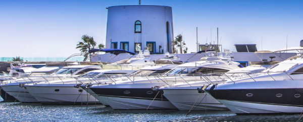 Marina Santa Eulalia enjoys a strong presence of Sunseeker yachts in the harbour