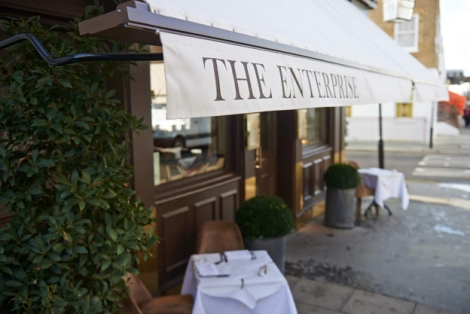 The Enterprise is a neighbourhood restaurant and bar in the heart of Knightsbridge bordering South Kensington