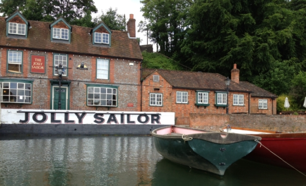 Swanwick Marina is located opposite the idyllic Jolly Sailor pub.
