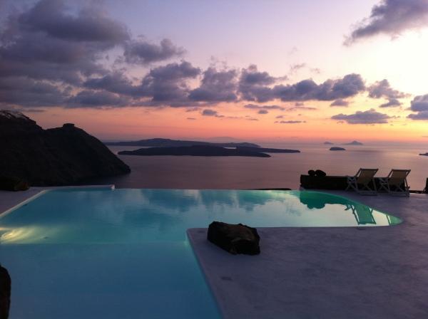 Private verandas provide access to the infinity pool