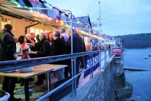 Right on the waters edge, The Royal Fowey Yacht Club boasts one of Fowey's best views