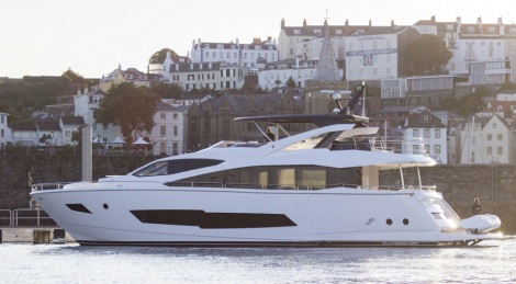 'CHERRY' has been fitted with a number of extras, including the full Platinum Package with Fin Stabilisation, CCTV, Bose Audio Package, Tropical AC systems and a JMS Joystick control system to name but a few