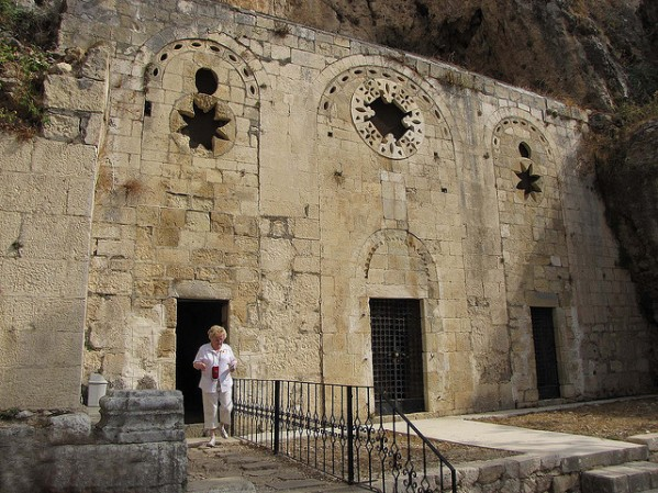 St. Peter's Church is located in Antakya and is composed of a cave carved into the mountainside on Mount Starius