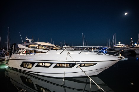 Taking pride of place during the #SunseekerSummer: The Sunseeker Predator 57 prior to its official launch at the Cannes Yachting Festival 8th-13th September