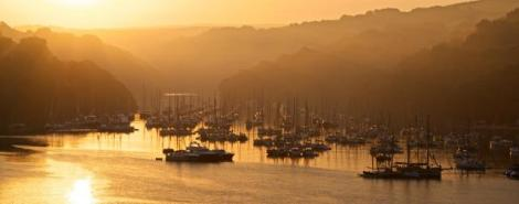 Fowey regatta sunrise