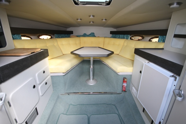Her current owners have maintained the boat to a superb standard and she even has a cover on her radar arch when not being used