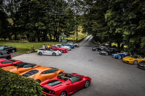 Just under 30 Supercars set off from Exeter Services at around 9am and headed up to Dartmoor