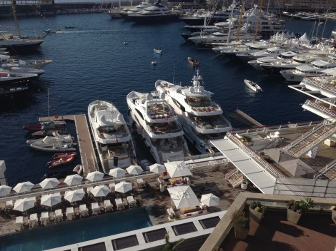 In prime position outside the Monaco Yacht Club, Sunseeker will display 3 large yachts at the Monaco Yacht Show 2015