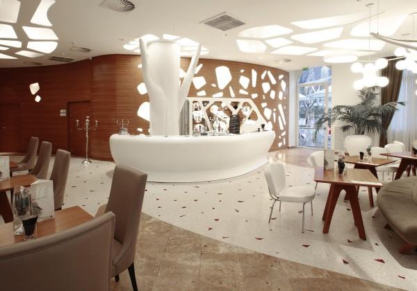 The Genesi bar was designed by the architect Massimo Losa Ghini