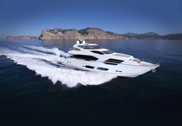 The NEW Sunseeker 95 Yacht is currently in production at the Sunseeker International shipyards in Poole, Dorset