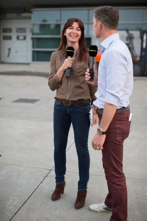 Suzi Perry famed BBC F1 anchor