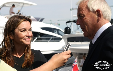 Robert Braithwaite CBE DL with BBC F1 anchor Suzi Perry