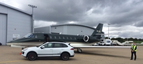 Sunseeker VIP clients often fly in to local private airfields where they are then collected by Porsche