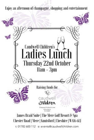Help support Caudwell Children at the Ladies Lunch 22nd October 2015