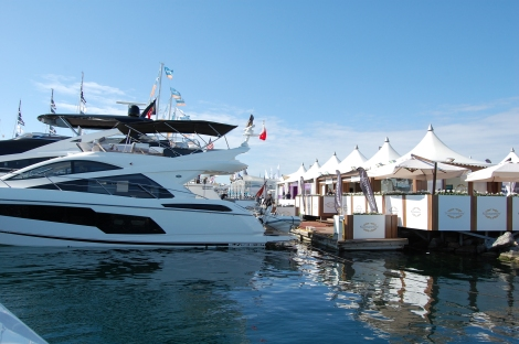 The Sunseeker Stand at the 2015 Istanbul Boat Show