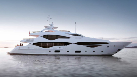 The NEW Sunseeker 131 Yacht will be launching at the London International Boat Show 2016
