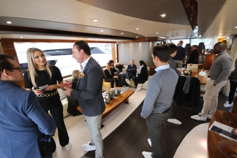 Guests enjoyed a Yacht Broker Brunch on board