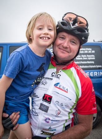 Ben Young with his son Hugo
