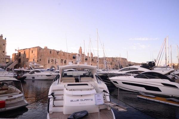 Sunseeker boat display in Cospicua, Malta