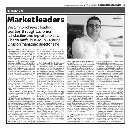 Charlo Briffa recent press interview
