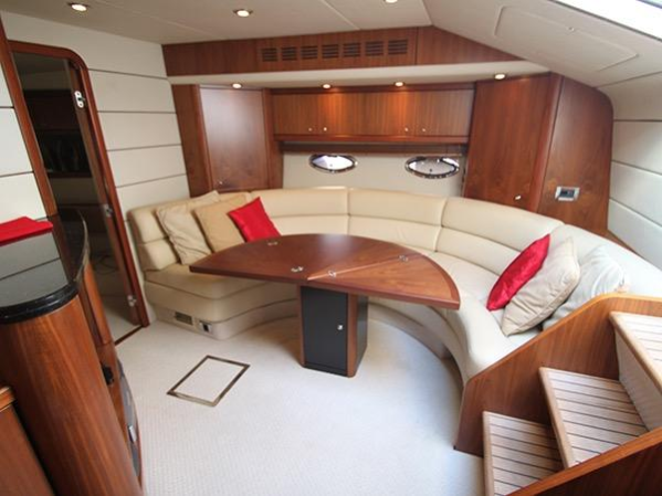 'ACQUA AZZURRA' comprises of two spacious cabins, a fantastic saloon and large cockpit area which is perfect for both entertaining and relaxing. Both cabins have en suites and boasts the popular Satin Walnut Wood finish throughout