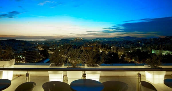 The Galaxy Bar offers stunning views of Athens