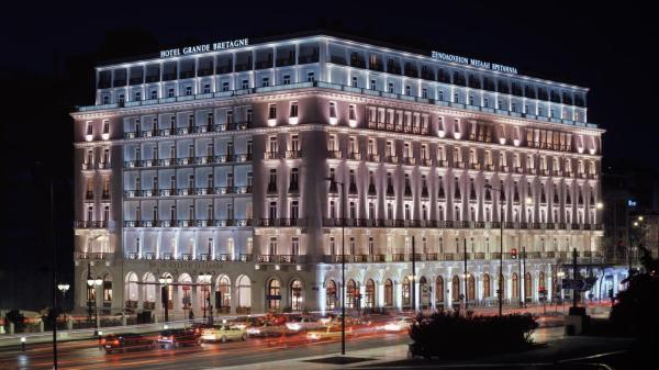 The 5 Star hotel Grand Bretagne situated in the heart of Athens